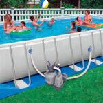 O que colocar sob uma piscina removivel